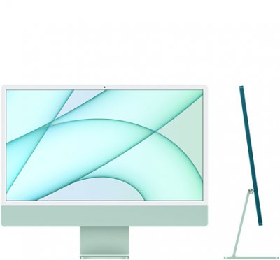 24-inch iMac with Retina 4.5K display: Apple M1 chip with 8‑core CPU and 8‑core GPU, 256GB - Green