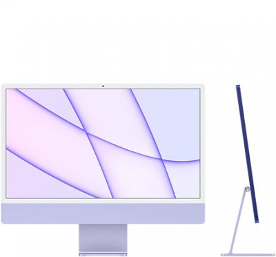 24-inch iMac with Retina 4.5K display: Apple M1 chip with 8‑core CPU and 8‑core GPU, 256GB - Purple